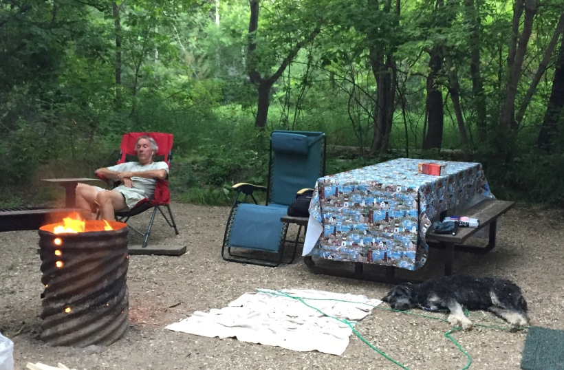 Photo of campsite at Crooked Lake