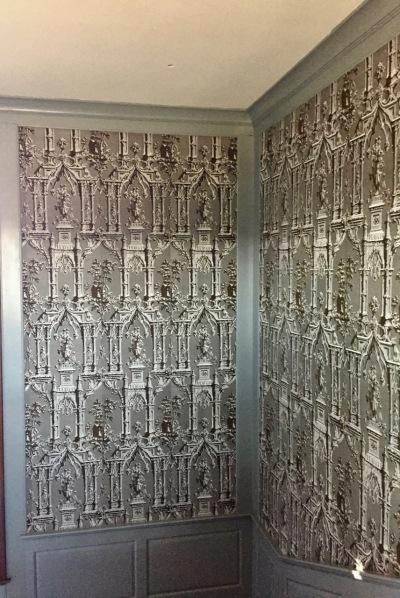 Wallpaper, Addition Stairwell, Randolf House, Colonial Williamsburg